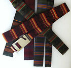 Tootal square end tie UNUSED vintage 1960s Young Blade striped slim skinny FADED