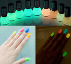 Womens Glow in the Dark night Fluorescent Nail Manicure Polish Luminous Varnish
