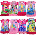 4-8Yrs Girls Princess Cinderella Snowwhite Barbie Mermaid Pajamas Nightgown PJDP