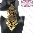 "GIANT 7""long BIG HIP HOP EARRINGS cut out filigree BASKETBALL WIVES CHANDELIER"