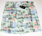 Adam Levine Swim Trunks / Board Shorts, Green, Men's size Large or X-Large, NWT