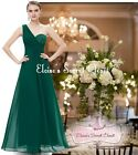 HEIDI Emerald Green Lace Embellished Prom Evening Cruise Ballgown Dress 6 - 18