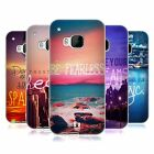 HEAD CASE WORDS TO LIVE BY SERIES 4 SILICONE GEL CASE FOR HTC ONE M9
