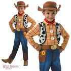 FANCY DRESS COSTUME ~ CHILDS BOYS DISNEY TOY STORY DELUXE WOODY AGES 3-8