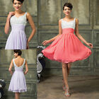 FAST FREE SALES  Short Formal Wedding Bridesmaid Party Prom Gowns Cocktail Dress