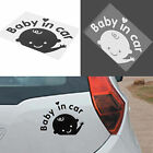 "Waving Baby on Board ""Baby In Car"" Safety Sign Car Decal Window Sticker"