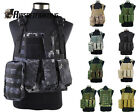 1X Multi-Color Airsoft Tactical Molle Plate Carrier Vest with Medical Pouch Case