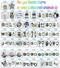 Y Charms Spacers Rhinestone European Geocache Jewelry Paracord Charm YOU PICK