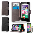 FOR NOKIA LUMIA 630 635 FLIP WALLET PU LEATHER CASE COVER FREE SCREEN PROTECTOR