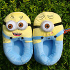 "Despicable Me 2 Minions Plush Stuffed Animal Slippers 11"" Yellow Cute Slippers"