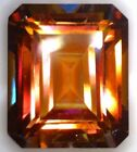 NATURAL MYSTIC SUNRISE ORANGE TOPAZ - EMERALD CUT - BRAZIL - TOP GRADE