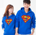 New Fashion Man Women Superman Mark Lovers Hoodie Top Couple Coat with Hat