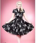 H&R London Black White Flowers Rockabilly Club Fun 50S Punk Vintage Prom Dress