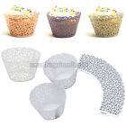25pcs Wedding Birthday XMAS Party Filigree Vine Cupcake Wrappers Cake Wraps Case