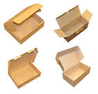 Brown Parcel Sized Die Cut Folding Post Postal Packing Boxes Cartons 7 Sizes