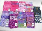 "NEW BATIK cotton fabric 4 unique fat quarters ~18x22"" or 1 yd pink/purples India"
