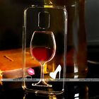 Liquid Quicksand Red Wine Glass Bottle Cocktail Cover Case For Samsung Galaxy