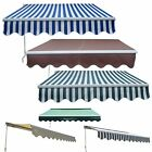 Outdoor Manual Aluminium Retractable Awning Canopy Garden Patio SunShade Shelter