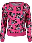 Iron Fist Bat Crazy Women's Pink Sweater