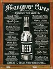 Hangover Cures Around The World Tin Sign 30x40cm
