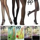 NEW PRETTY POLLY LADIES WOMENS TIGHTS BROWN BLACK GLOSS SUPPORT SHAPER FISHNET