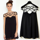 Summer Black Chiffon Women Dress Casual Loose Cocktail/Party Mini Bandage Dress