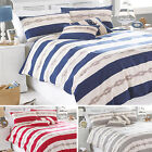 Riva Home Reef Natural Striped Stripe Nautical Duvet Quilt Cover Bedding Set