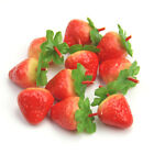 Lot of 10/50pcs Fake Strawberry Artificial Fruit Model House Kitchen Party Decor