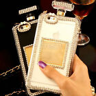 Bling Diamond Perfume Bottle Handbag TPU Case Cover For iPhone 5/5S 6/6plus