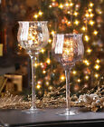 LARGE silver mercury glass Chalice candle cup holder wedding centerpiece vase