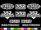 10 DECAL SET 352 CI V8 POWERED FE TRUCK ENGINE STICKERS EMBLEMS VINYL DECAL
