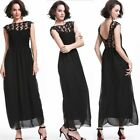 New Women Long Lace Chiffon Evening Formal Party Ball Gown Prom Bridesmaid Dress