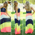 2015 New Women Summer Boho Long Maxi Evening Party Dress Beach Dresses Sundress