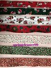 CHRISTMAS BIAS BINDING ~ 30mm wide ~ SANTA ~ SNOWMAN ~ TEDDY ~RED ~WHITE ~GREEN