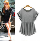 NEW Fashion Women Batwing Short Sleeve T-Shirt Casual Loose Tops Summer Blouse