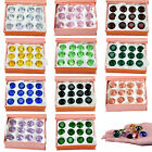 LONGWIN Box of 12pcs Crystal Diamond Ornament Wedding Gift 20mm Solid Color