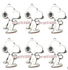 Free shipping DIY cartoon white dog Metal Charms Jewelry Making Pendants 3cm