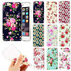 "Floral Flower Soft TPU Back Case Cover For Apple iPhone 6 4.7"" Plus 5.5"""