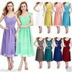 Remedios Short Chiffon Bridesmaid Dresses Cocktail Party Evening Formal Pleated
