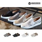 New SNRD SN140  Fashion Cool Metallic Punching Women Slip On Sneakers Flat Shoes