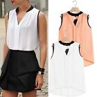 New Women Lady Summer Loose Casual Chiffon Sleeveless Vest Shirt Top Blouse