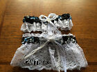 Carolina Panthers Football NFL Bridal Garter Set White lace Regular Plus size
