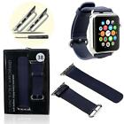 New Genuine Leather Watch Band Strap+Adapter+Tool For All Apple Watch 38mm/42mm