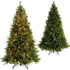 Victorian Pine Pre-Lit Christmas Tree Warm LED Lights 5ft 6ft 7ft 9ft 10ft 12ft