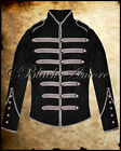 STEAMPUNK MILITARY JACKET BLACK PARADE DRUMMER HUSSAR BAND EMO JAWBREAKER SILVER