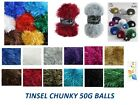 King Cole Tinsel Chunky Wool / Yarn / Eyelash Yarn 50g balls 75% Polyester