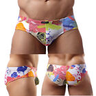 Fashion Sexy Men's Briefs Cotton Underwear Printed Clothing Underpants Shorts