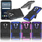 Rugged Armor Hard Soft Case Cover Clip Holster For LG G Stylo LS770 LG G4 Note