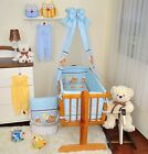 9 Piece Baby Nursery Bedding Set to fit Rocking Crib 40/90 cm