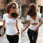 Sexy Womens Summer Vest Top Short Sleeve Blouse Casual Tank Tops T-Shirt